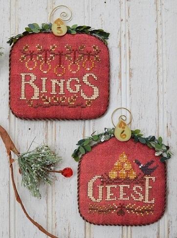 Christmas Stars 3 Racoon Mouse Ornaments Workbasket Cross Stitch Pattern